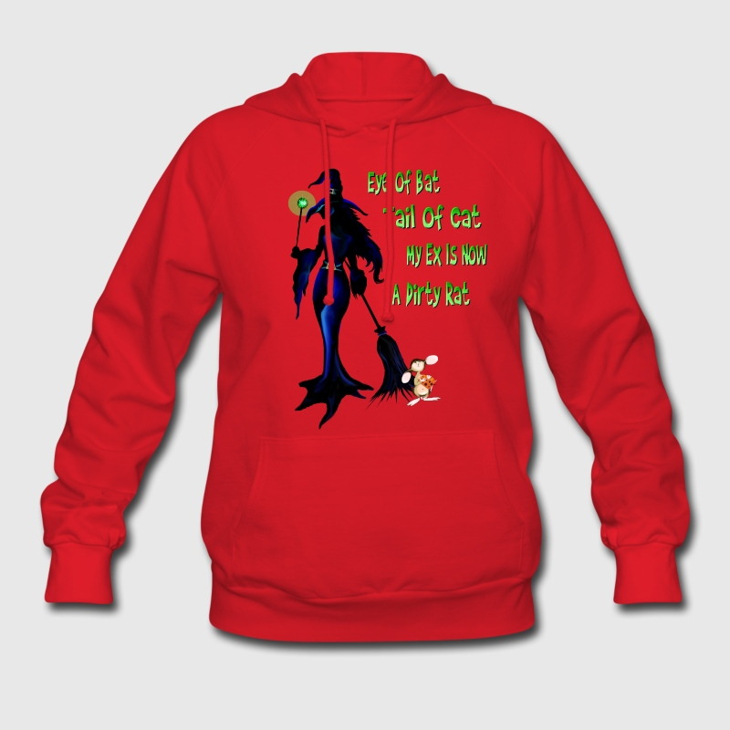 Halloween Witch and Rat - Women's Hoodie