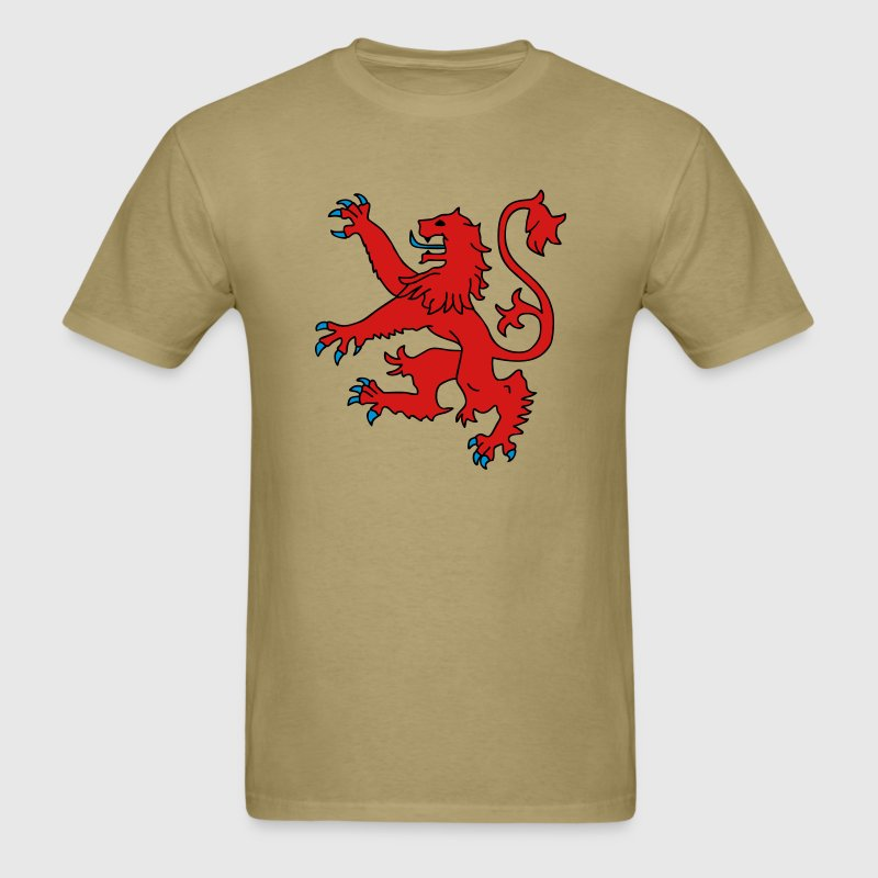 Khaki Scottish Lion T-Shirts - Men's T-Shirt