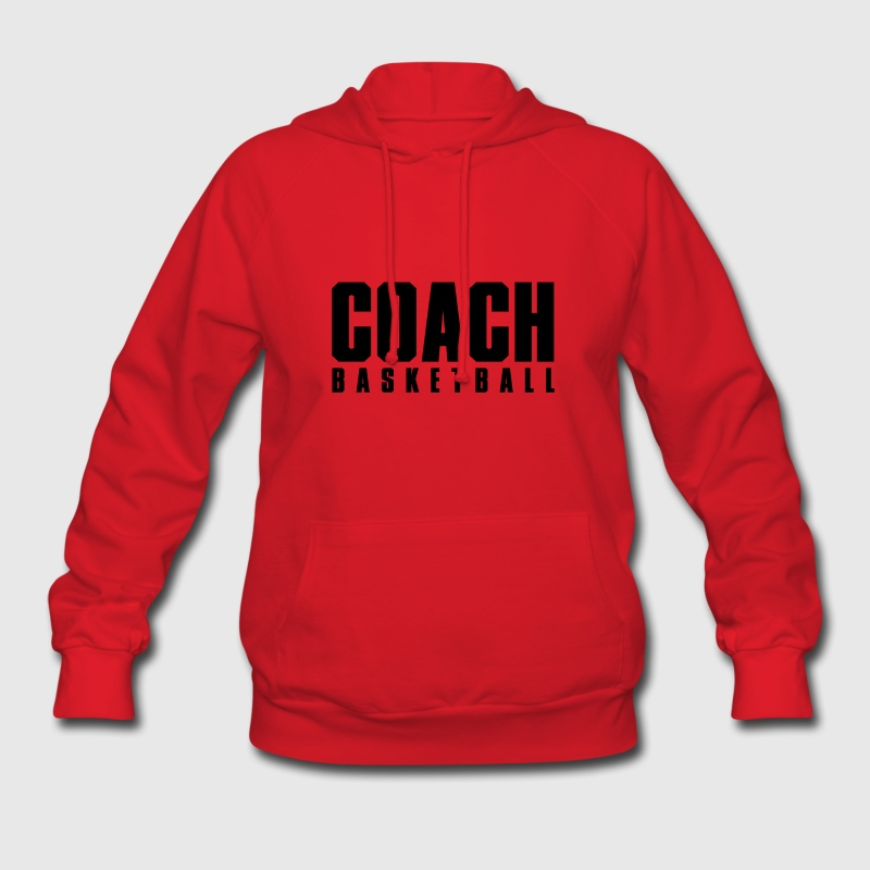 Red Coach Basketball Hoodies - Women's Hoodie