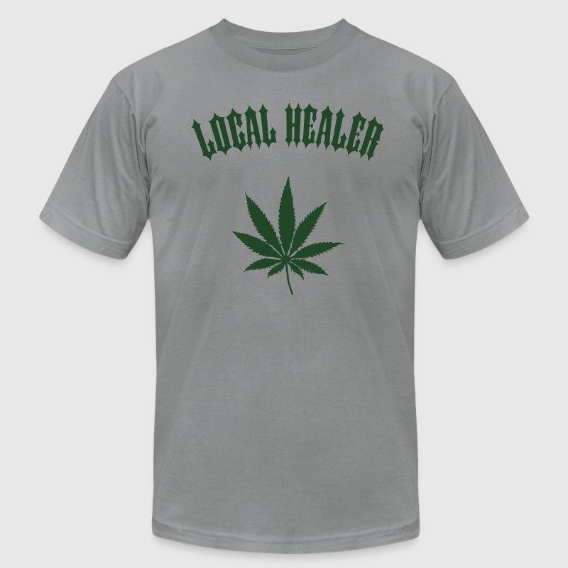Local Healer - Marijuana Leaf (1-color custom) T-Shirt | Spreadshirt