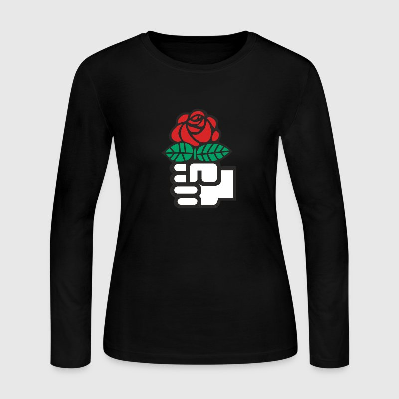 Socialist Red Rose - Women's Long Sleeve Jersey T-Shirt