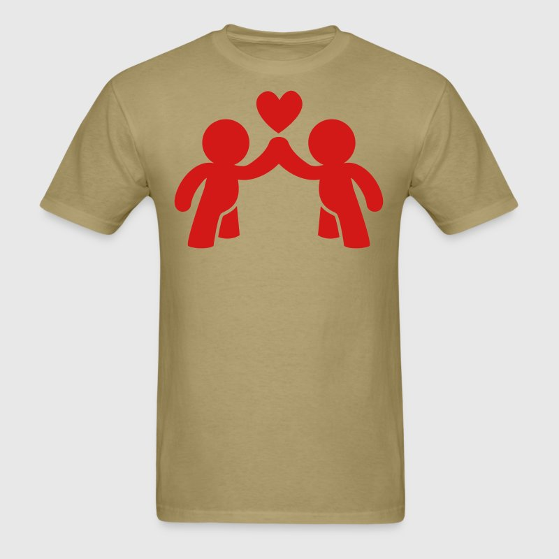 CUTE LOVE gay COUPLE T-Shirts - Men's T-Shirt