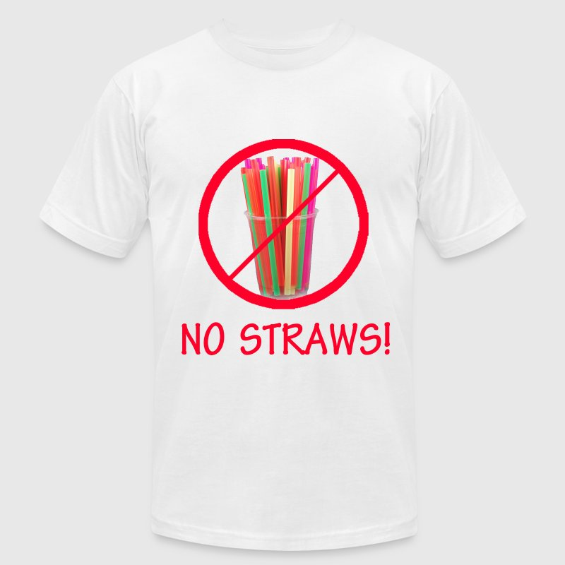 No Straws - Men's T-Shirt by American Apparel