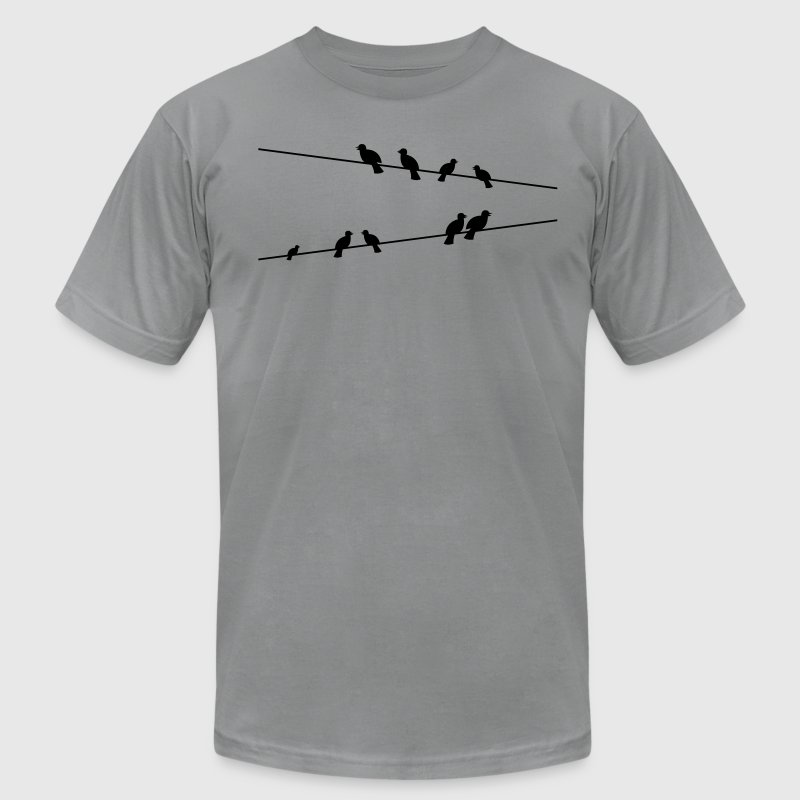 Birds on electric wires T-Shirts - Men's Fine Jersey T-Shirt