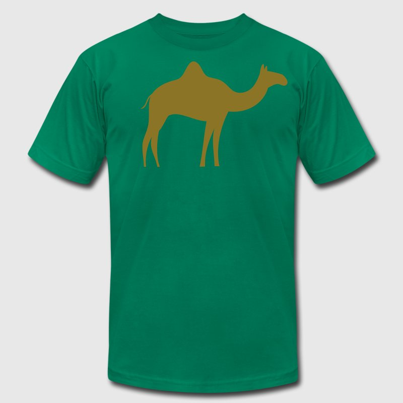 gold camel T-Shirts - Men's T-Shirt by American Apparel