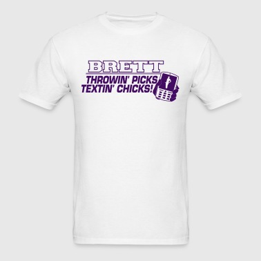 brett_purple2 T-Shirts - Men's T-Shirt