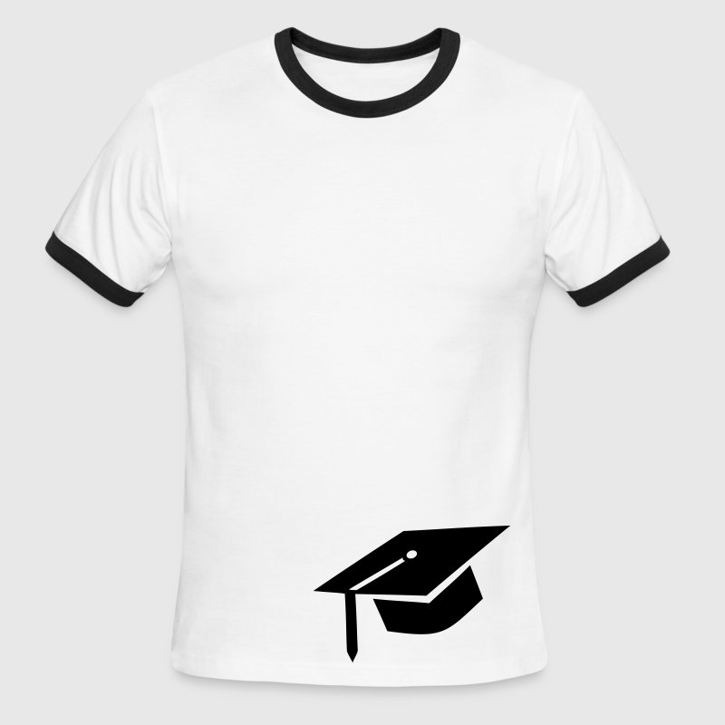 graduation cap T-Shirts - Men's Ringer T-Shirt