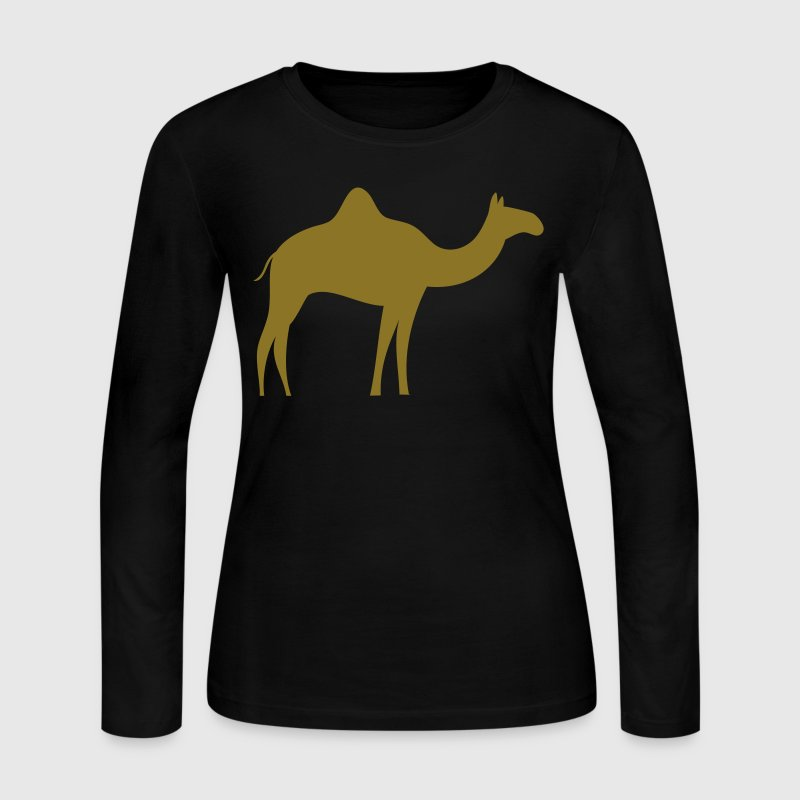 gold camel Long Sleeve Shirts - Women's Long Sleeve Jersey T-Shirt