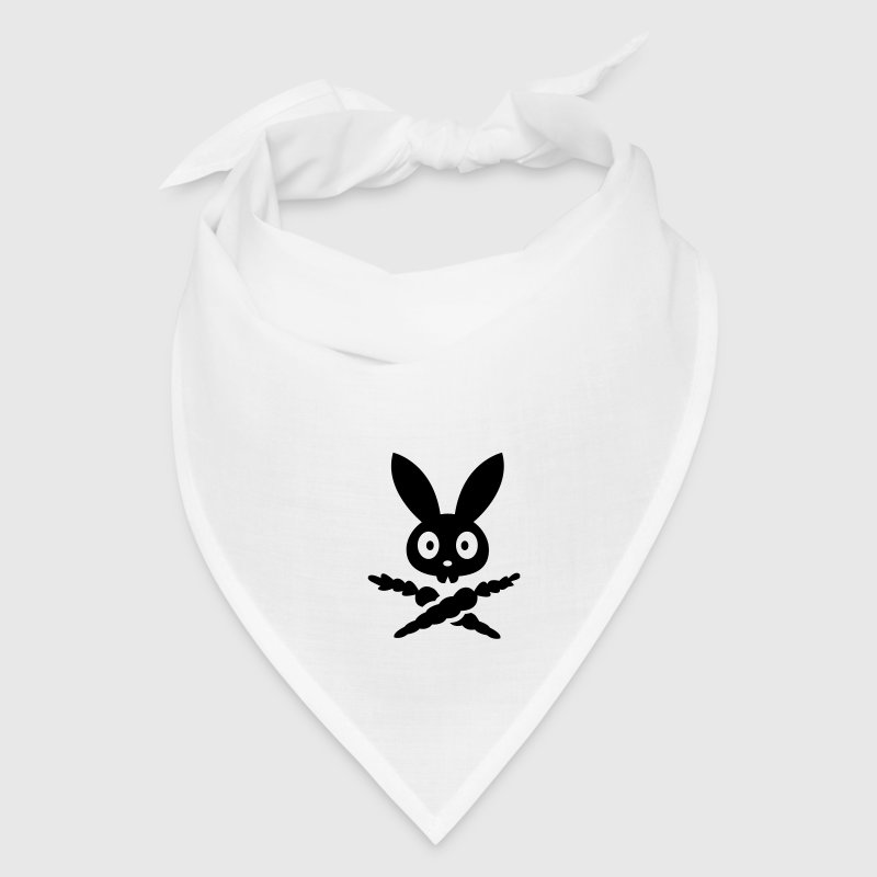 Skull emblem sign logo badge bunny rabbit bone carrot Tot Skully Caps - Bandana
