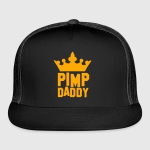 PIMP DADDY with kigs crown T-Shirts - Trucker Cap