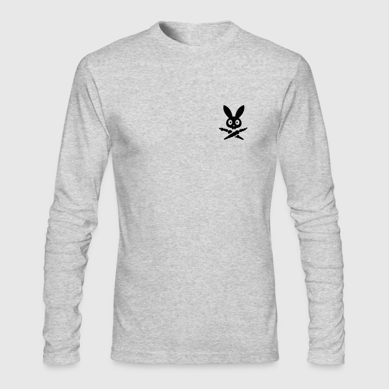 Skull emblem sign logo badge bunny rabbit bone carrot Tot Skully Long Sleeve Shirts - Men's Long Sleeve T-Shirt by Next Level