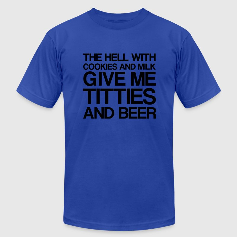 TITS AND BEER - Men's T-Shirt by American Apparel
