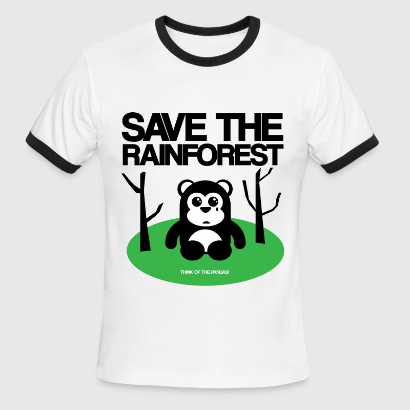 Save the Rainforest - Men's Ringer T-Shirt