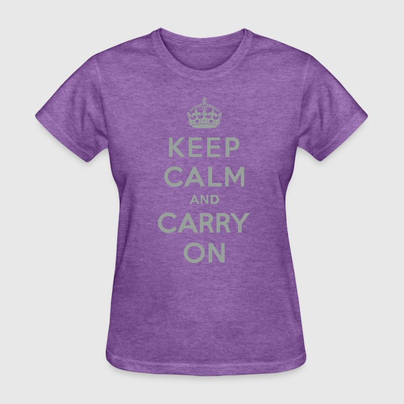 Keep Calm and Carry On (vector) Women's T-Shirts - Women's T-Shirt