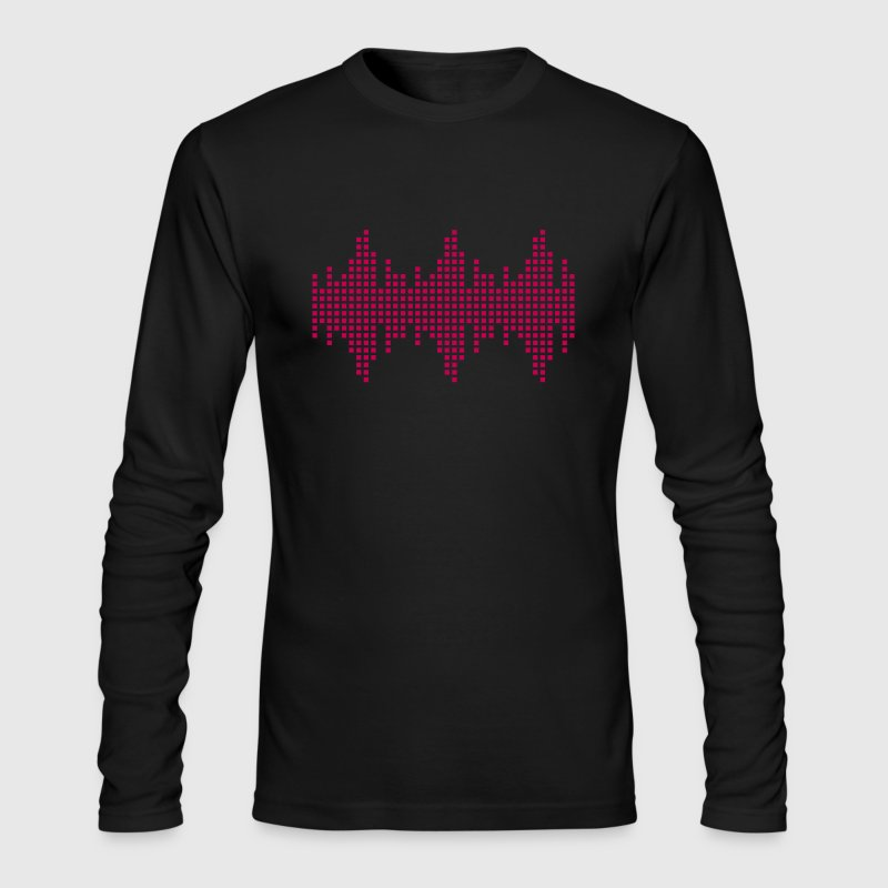 Frequency Beat Oscillator DJ Music Sound Long Sleeve Shirts - Men's Long Sleeve T-Shirt by Next Level
