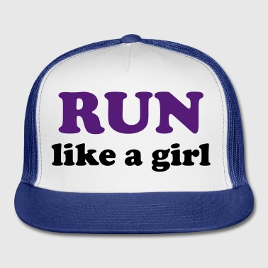 run like a girl Buttons - Trucker Cap