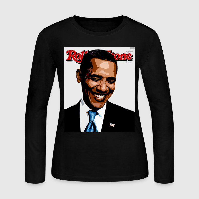 barack obama rolling stone Long Sleeve Shirts - Women's Long Sleeve Jersey T-Shirt