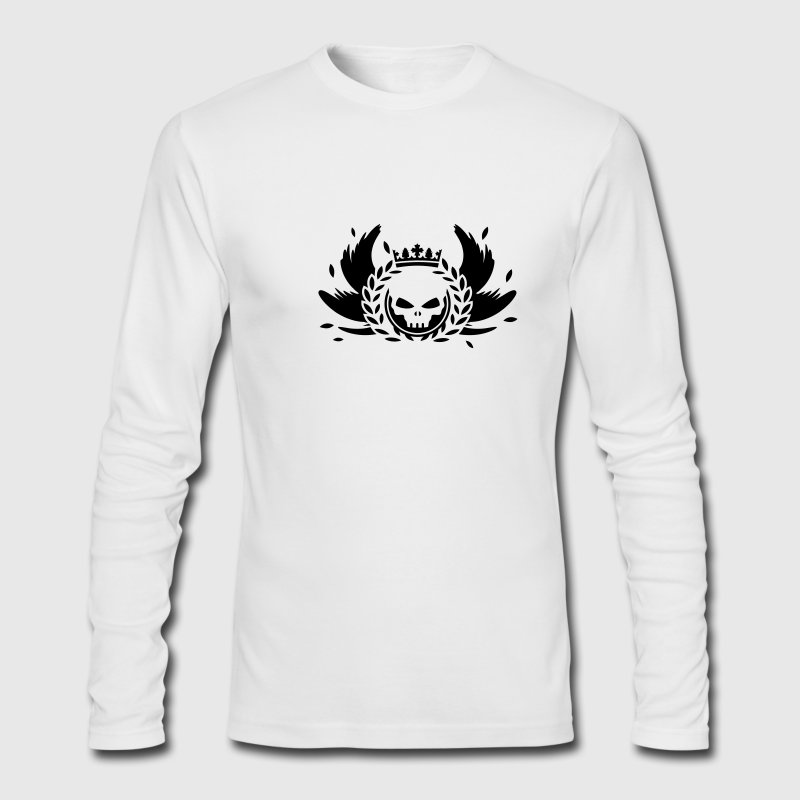 Skull with crown, wings and laurel wreath Long Sleeve Shirts - Men's Long Sleeve T-Shirt by Next Level