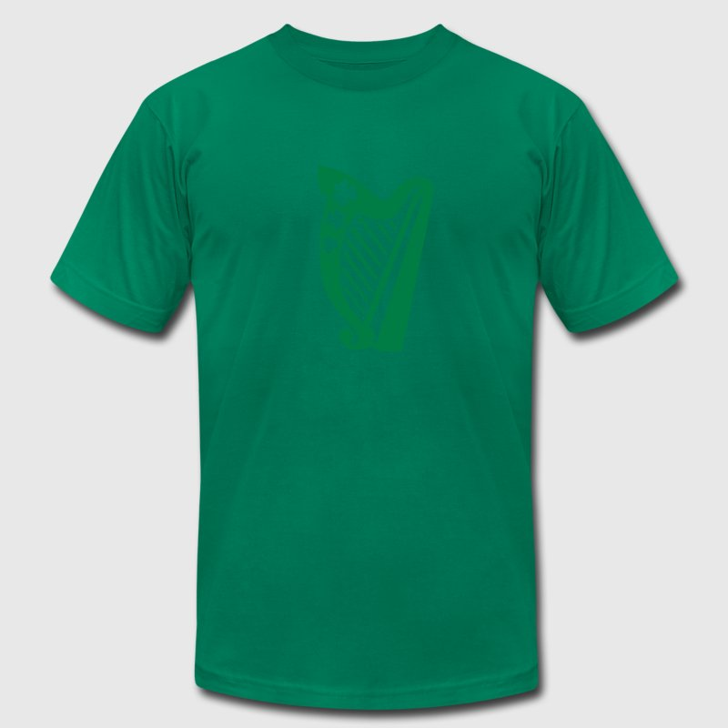 Irish harp T-Shirts - Men's T-Shirt by American Apparel