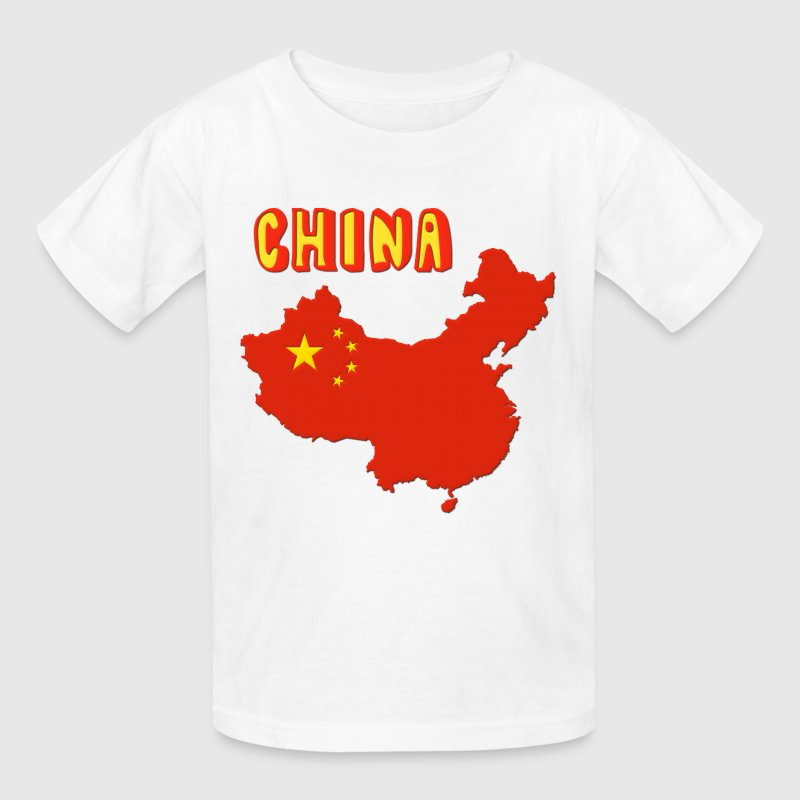 China Map Flag Kids' Shirts - Kids' T-Shirt