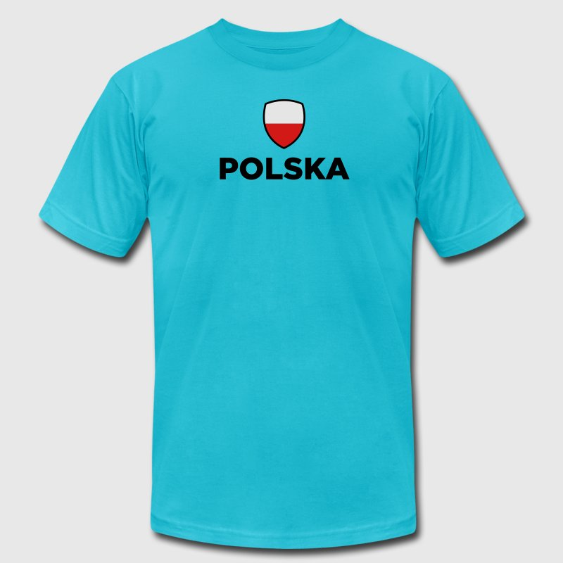 Poland Emblem Small 1 (3c) T-Shirts - Men's T-Shirt by American Apparel