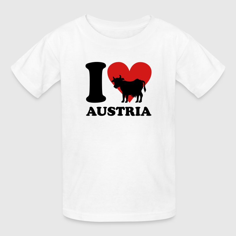 I Love Austria Cow Kids' Shirts - Kids' T-Shirt