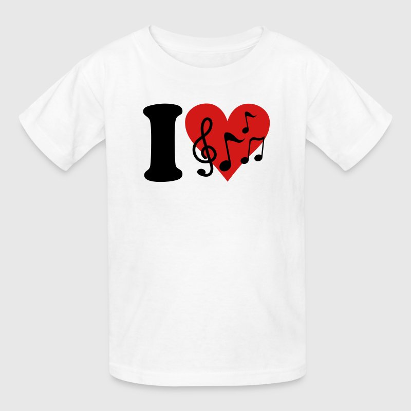 I love Music - Notes Kids' Shirts - Kids' T-Shirt