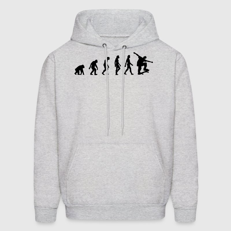 Skateboard Evolution (1c) Hoodies - Men's Hoodie