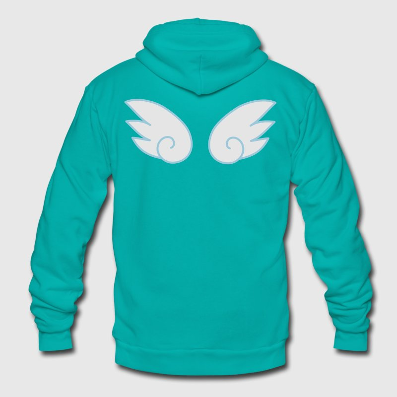 kawaii cute little wings Zip Hoodies/Jackets - Unisex Fleece Zip Hoodie by American Apparel