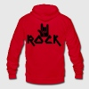 rock with devil horns hands METAL MUSIC Zip Hoodies/Jackets - Unisex Fleece Zip Hoodie by American Apparel