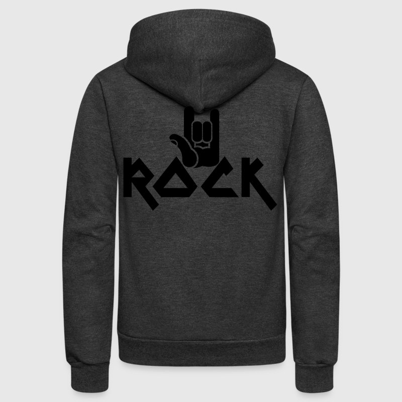 rock with devil horns hands METAL MUSIC Zip Hoodies/Jackets - Unisex Fleece Zip Hoodie