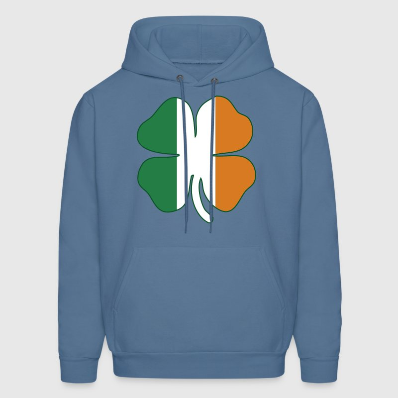Flag of Ireland Shamrock Hoodies - Men's Hoodie