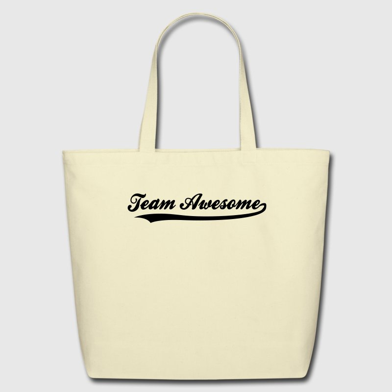 Team Awesome (1c) Bags  - Eco-Friendly Cotton Tote