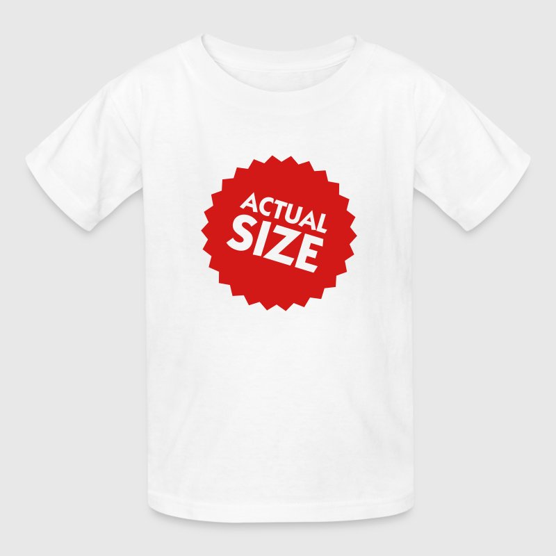 Actual Size (1c) Kids' Shirts - Kids' T-Shirt