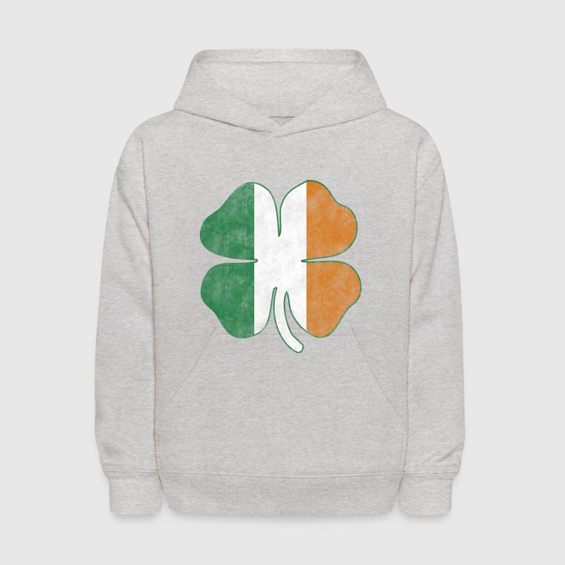 Irish Flag Shamrock Grunge Sweatshirts - Kids' Hoodie
