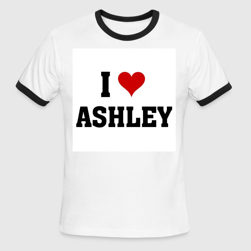 I love Ashley - Men's Ringer T-Shirt