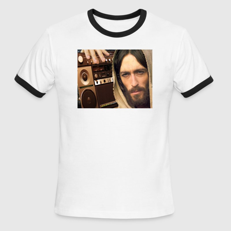 Jesus Loves GospElectro (Ringer-T) - Men's Ringer T-Shirt