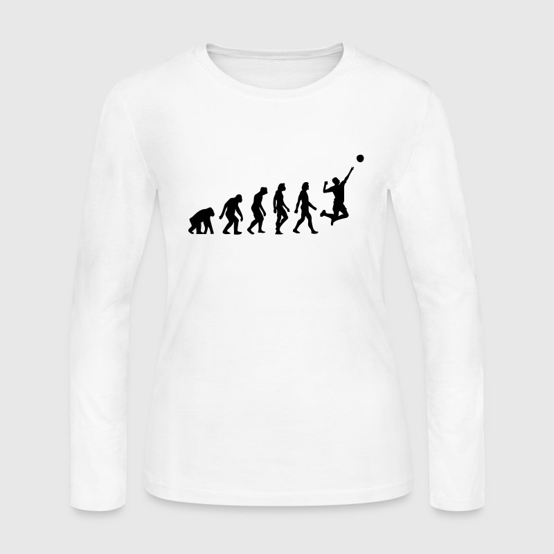 Evolution Volleyball (1c) Long Sleeve Shirts - Women's Long Sleeve Jersey T-Shirt