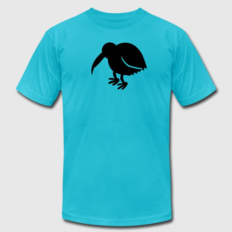 kiwi bird new zealand national icon T-Shirts - Men's Fine Jersey T-Shirt