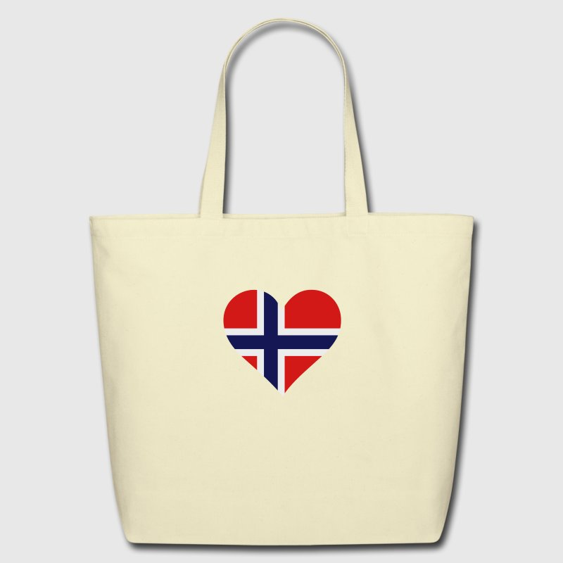 Heart Norway 1 (3c) Bags  - Eco-Friendly Cotton Tote