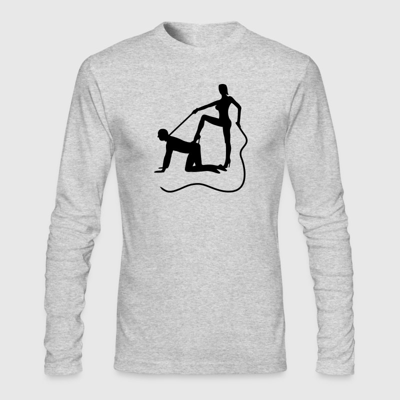 scenes from a marriage dominatrix dominatrices domina whip lash high heel bachelor party bachelorette wedding leash Long Sleeve Shirts - Men's Long Sleeve T-Shirt by Next Level