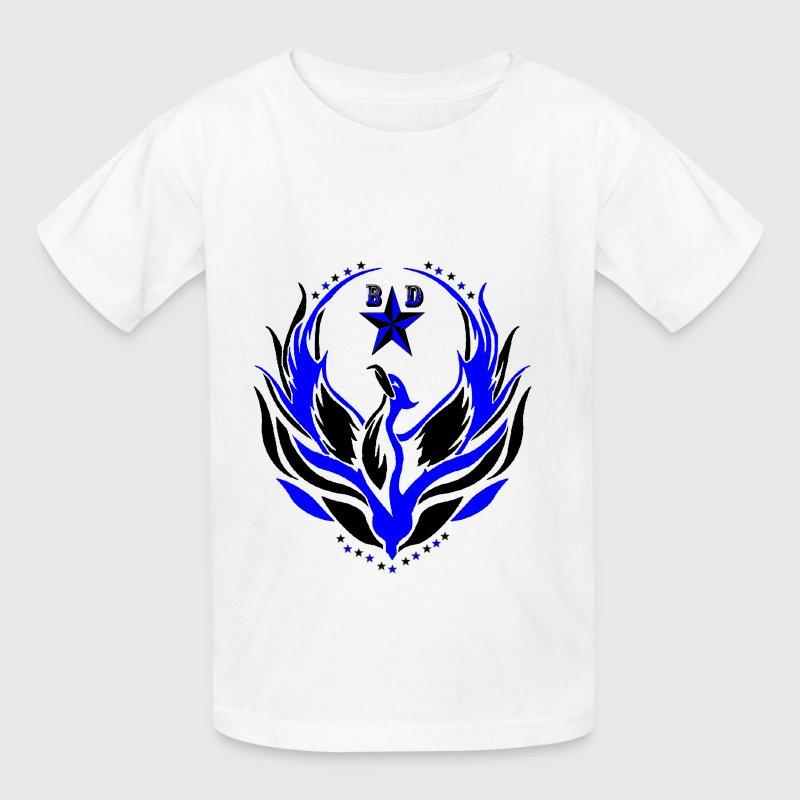 BLACK DELEGATION blue phoenix  Kids' Shirts - Kids' T-Shirt