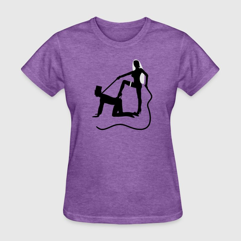 scenes from a marriage dominatrix domina whip lash high heel bachelor party bachelorette wedding leash Women's T-Shirts - Women's T-Shirt