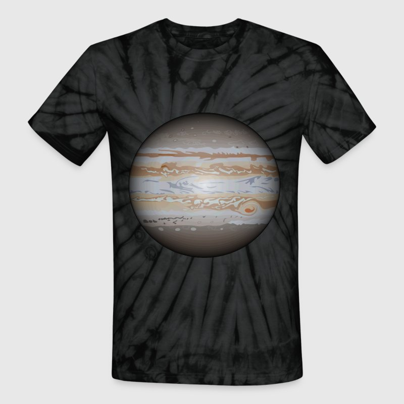 Planet Jupiter - Unisex Tie Dye T-Shirt