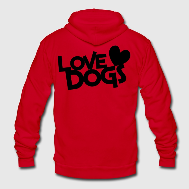 love dogs dog lover Zip Hoodies/Jackets - Unisex Fleece Zip Hoodie by American Apparel