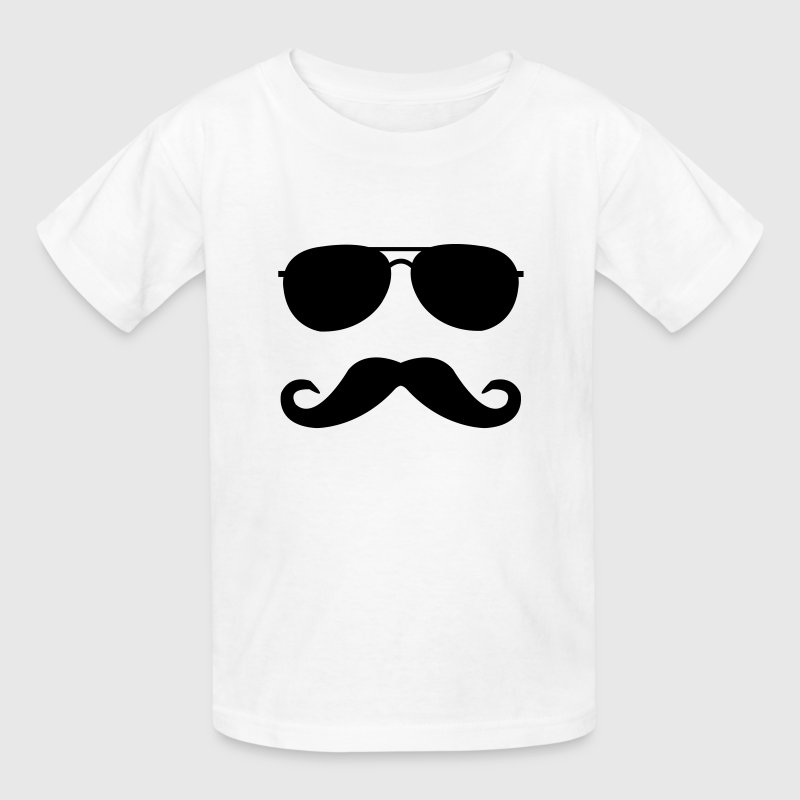 mustache and glasses Kids' Shirts - Kids' T-Shirt