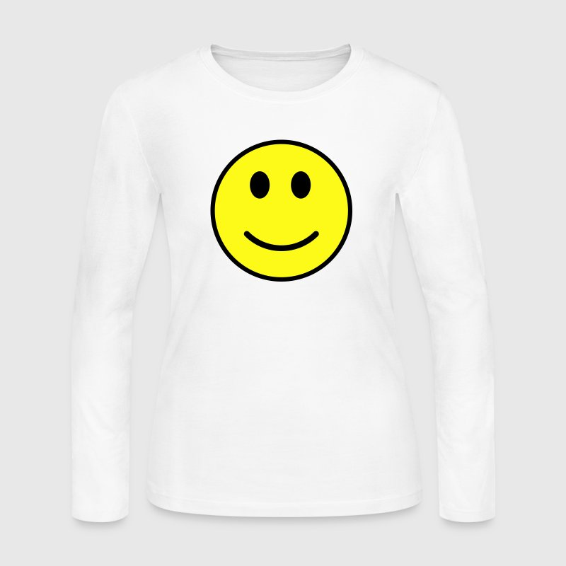 Smiley face - Women's Long Sleeve Jersey T-Shirt