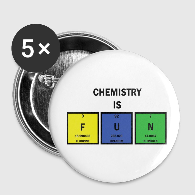 Chemistry is FUN Small Buttons - Small Buttons