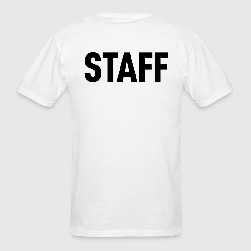 Staff White Shirt - Men's T-Shirt