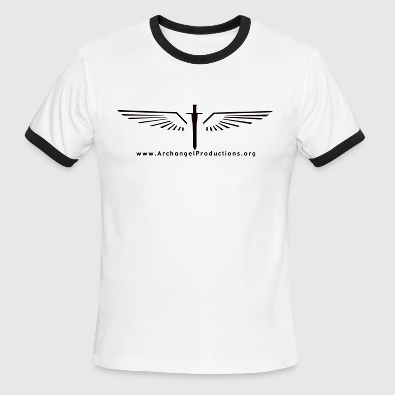 Archangel Productions wings & sword logo - Men's Ringer T-Shirt